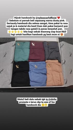 Hijrah Handsock In Anchor photo review